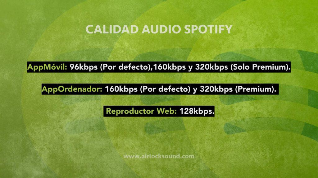 Calidad de audio de tu cuenta de Spotify